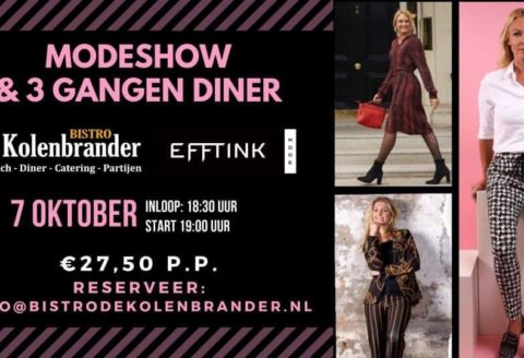 Modeshow & 3 gangen diner!